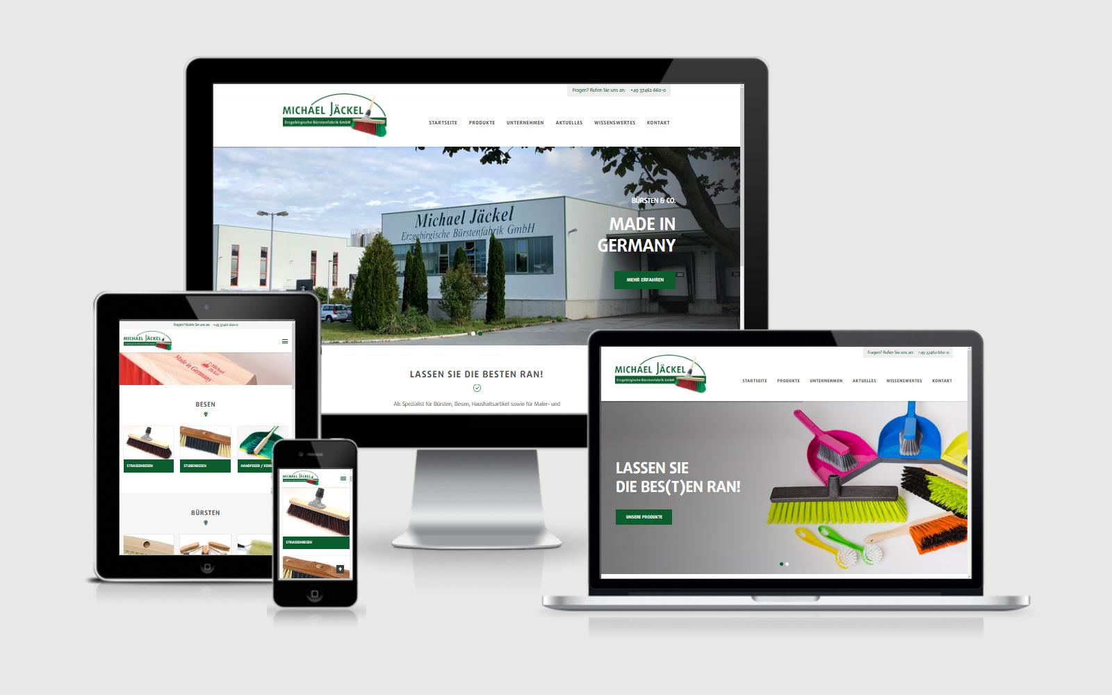 Jäckel Bürsten has a new website